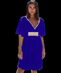 Φόρεμα δαντέλα με άνοιγμα στα μανίκια