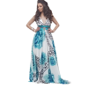 Maxi floral dress with rubber on the back