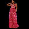 Maxi φόρεμα - τούλινη φούστα μπορντώ