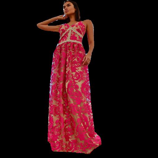 Maxi dress - tulle burgundy skirt