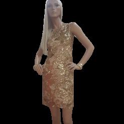 Mini φόρεμα με παγιέτες και άνοιγμα στην πλάτη