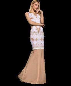 Maxi γοργονέ αμάνικο φόρεμα