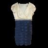 Κοντό δίχρωμο φόρεμα κρουαζέ με φύλλα