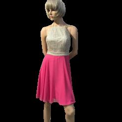 Midi φόρεμα κλος με παρτούς ώμους