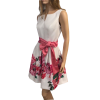 Mini floral dress with white bust