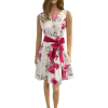 Mini floral dress in fuchsia A line
