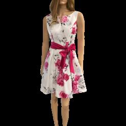 Mini floral φόρεμα σε Α γραμμή φούξια