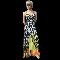 Maxi αέρινο φόρεμα με διπλές τιράντες