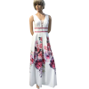 Maxi floral dress with cufflinks