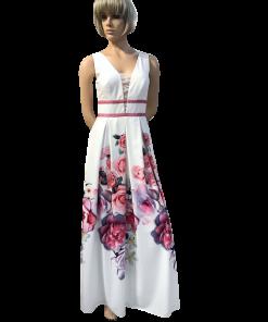 Maxi φόρεμα floral με κουφόπιετες