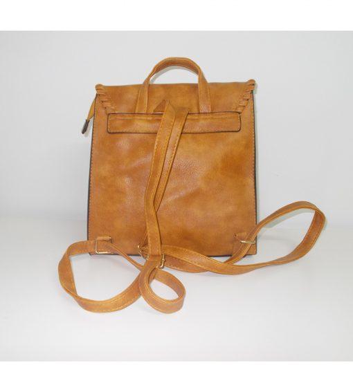 gynaikeio-backpack-me-xriso-kouboma primadonna.com.gr