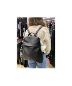 mavro-backpack-me-rithmizomena-lourakia primadonna.com.gr